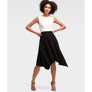 DKNY Colorblock Dress with Handkerchief Hem